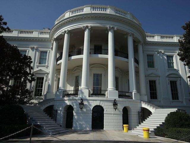 White House on lockdown after vehicle slammed into security barrier