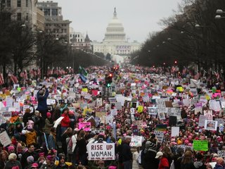 Protestors hit streets for Women's March 2018