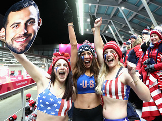 GALLERY: The rowdiest fans at the 2018 Olympics