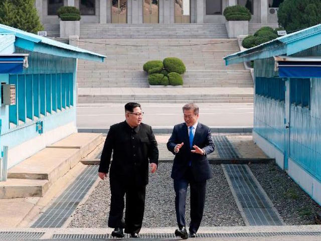 LEADERS OF NORTH AND SOUTH KOREA