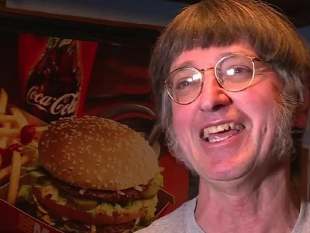 Man eats his 30000th Big Mac