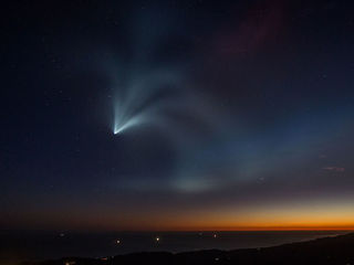 Photos: SpaceX rocket launch lights up sky