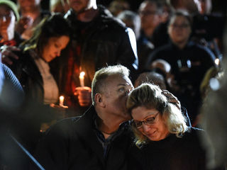 Photos: Residents mourn limo crash victims